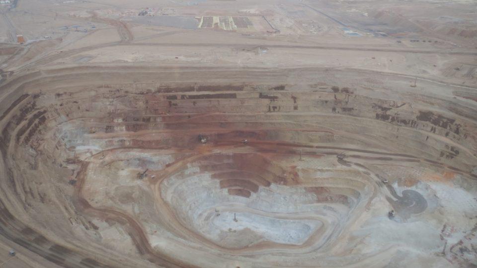 Obrovské měděné doly v Copiapu