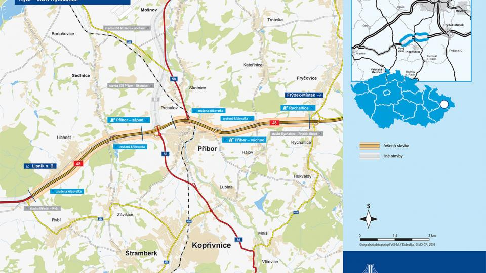 Schéma stavby dálnice D48